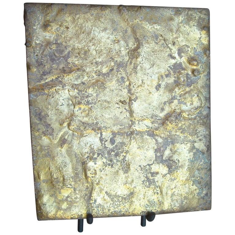 Harry Bertoia ,Brass on Steel Panel or Sculpture, for Fnbom For Sale