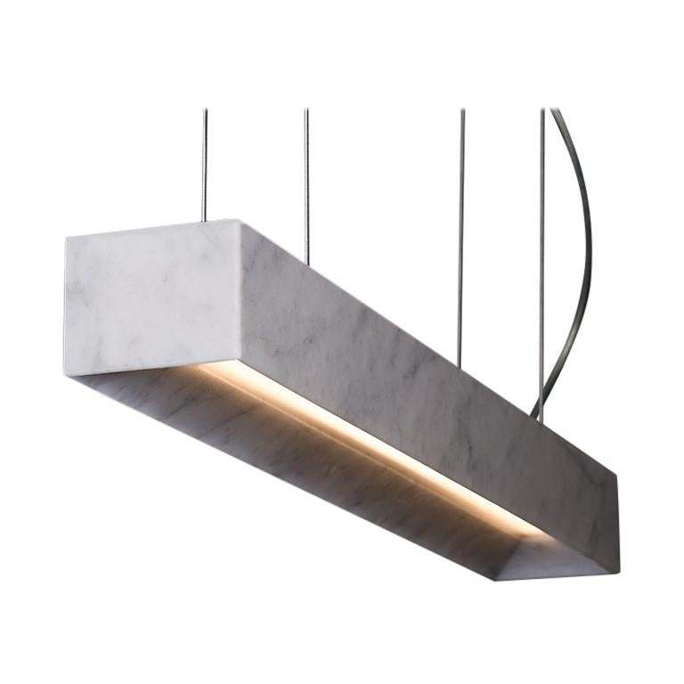 "Marble Suspension Lamp ""Block Long"" For Sale"