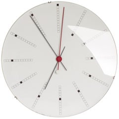 Extra Large Bankers Wall Clock by Arne Jacobsen for Gefa