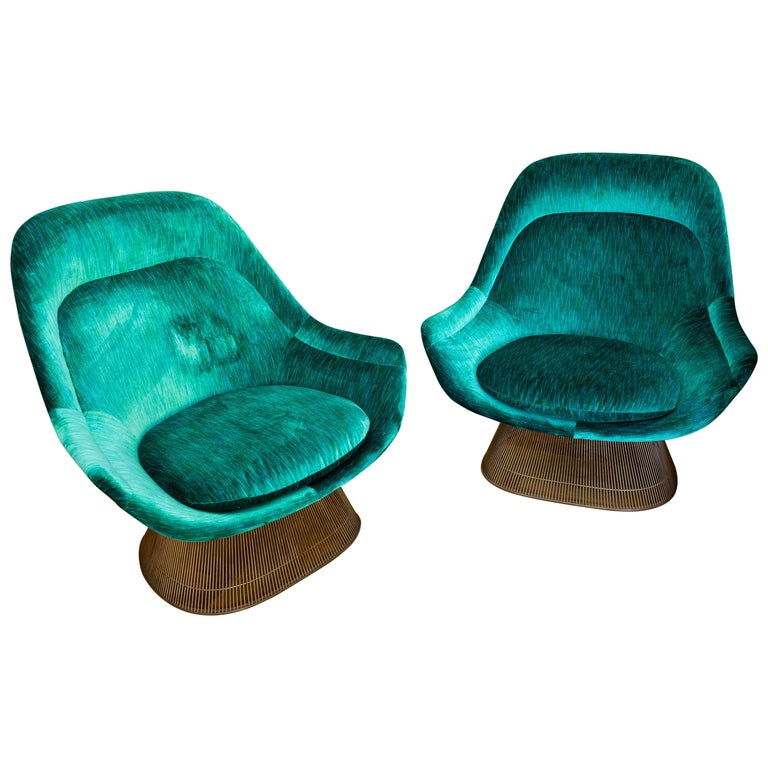 Pair of Easy Chairs by Warren Platner for Knoll, circa 1970 For Sale
