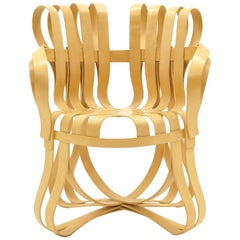 Authentic Cross Check Chair by Frank Gehry for Knoll,  Bent Wood with Arms