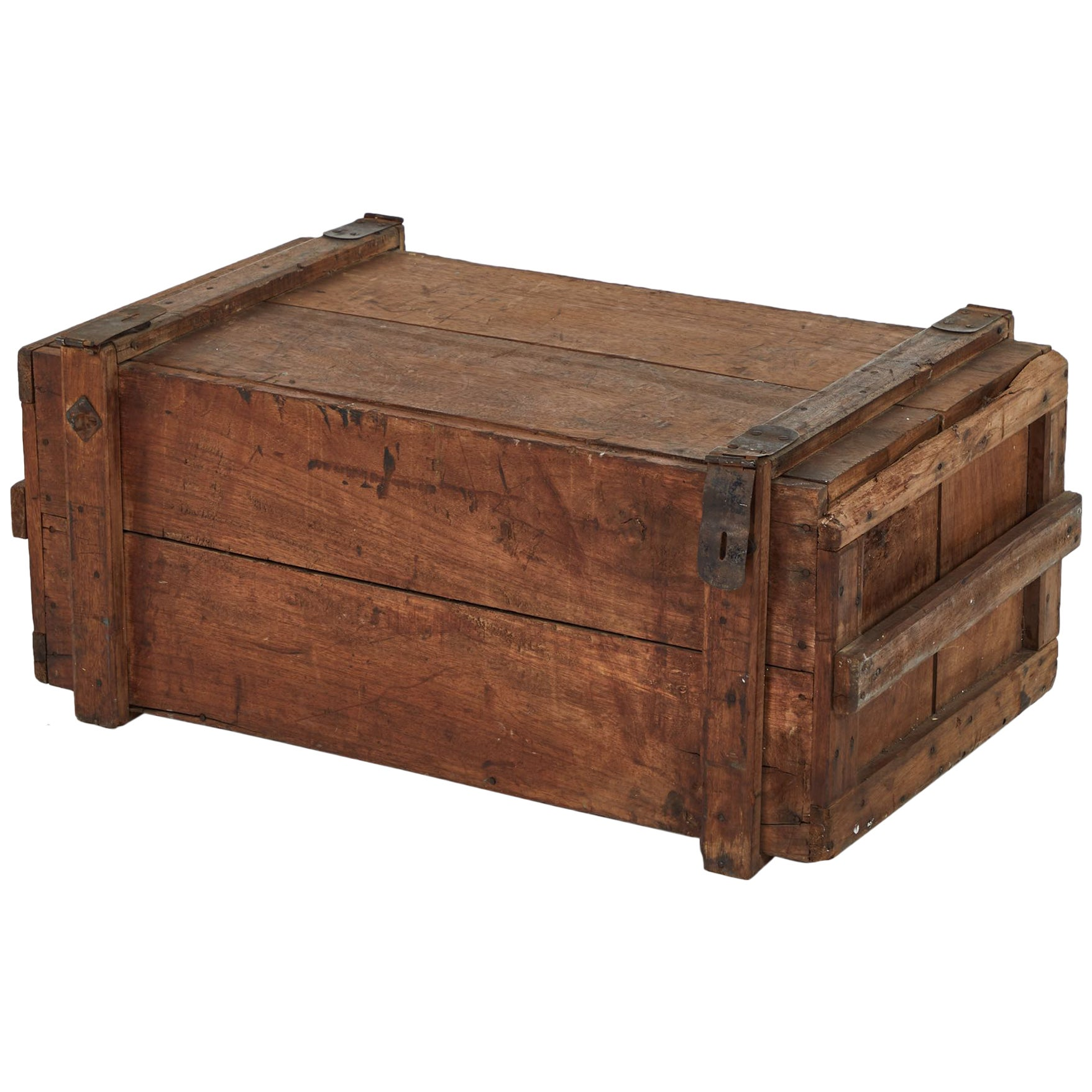 19th Century Rustic Chest as a Coffee Table
