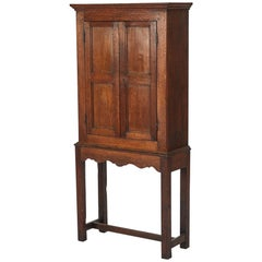 Hall Cupboard in Oak on Stand