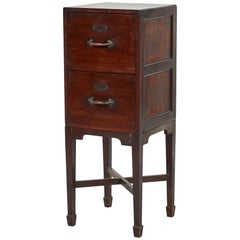 Filing Cabinet with Two Drawers in Mahogany