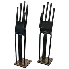 Pair of Glove Molds in Metal