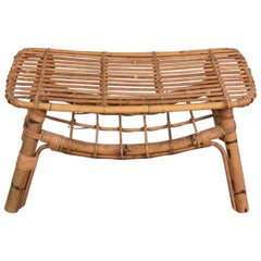 Bamboo coffee table with magazine rack, Italy
