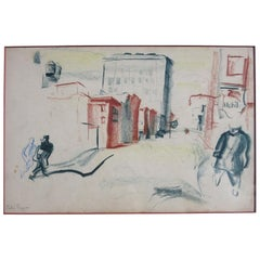 Pietro Lazzari '1895-1979' WPA Signed Etching
