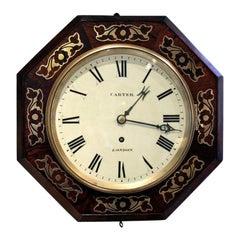 Small Regency Octagonal Wall Clock