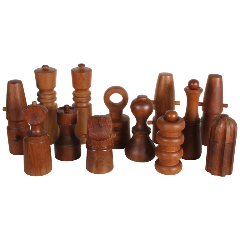 Large Dansk Collection of Pepper Mills and Salt Shakers, IHQ For Sale
