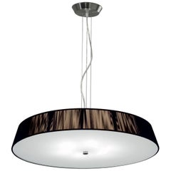 Leucos Lilith S 70 Pendant Light in Mocha and Brushed Nickel by Design Lab
