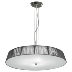 Leucos Lilith S 70 Pendant Light in Silver and Brushed Nickel by Design Lab