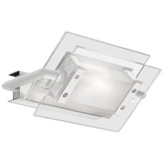 Leucos 360° P-PL 200 LED Wall Light in Satin, Transparent & White by Design Lab