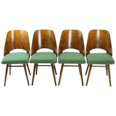 Set of Four Midcentury Chairs by TON in Walnut, Czechoslovakia 1960s
