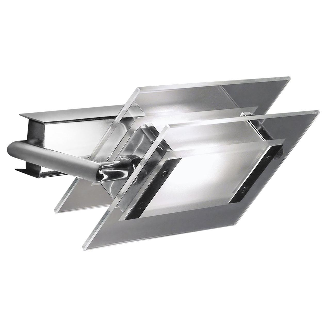 Leucos 360° P-PL 200 LED Wall Light in Satin, Transparent & Chrome by Design Lab
