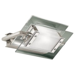 Leucos 360° P-PL 200 LED Wall Light in Satin, Transparent & Nickel by Design Lab