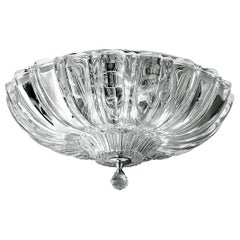 Leucos Pascale PL Ceiling Light in Crystal and Polished Steel by Design Lab