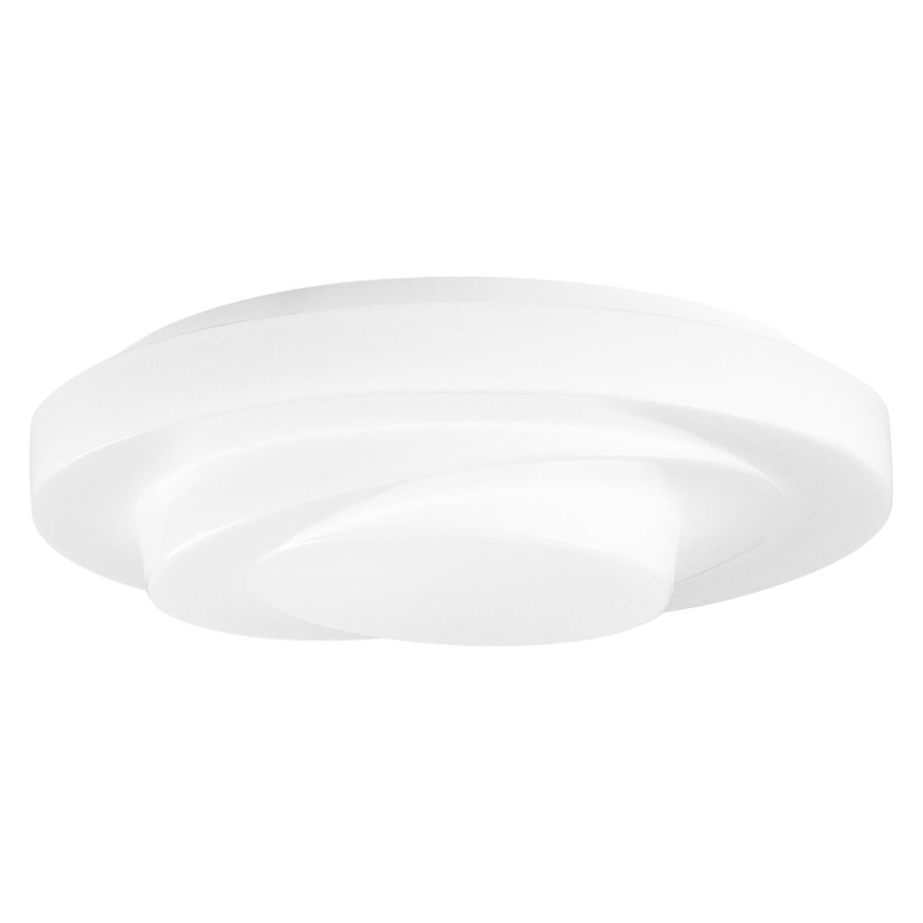 Leucos Loop-Line LED Flush Mount in White by Toso, Massari & Assoc. with G. Toso