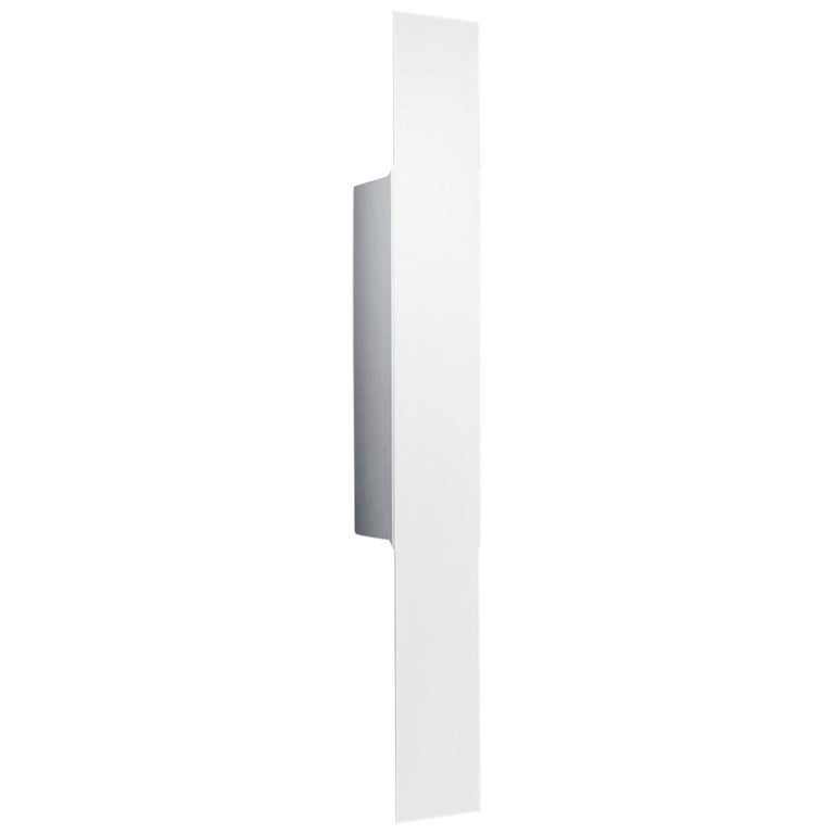 Leucos Opi P Wall Light in Matte White by Alessandro Piva For Sale