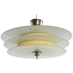 Böhlmarks Art Deco Streamline Chandelier by Harald Notini