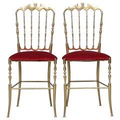 Midcentury Brass Ballroom Chairs by Giuseppe Gaetano Descalzi