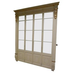 """Early 20th Century Glass Double Door Bedroom from a Spanish """"Indianos"""" House"""