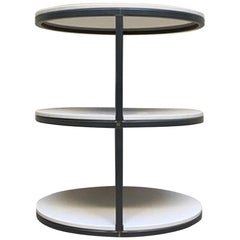 21st Century Italian Contemporary Design Side Table in Lacquered Wood and Iron