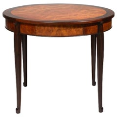 Süe & Mare, Side Table in Wood and Thuya Circular, circa 1925