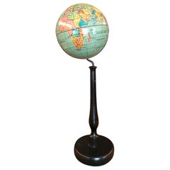 Small Table Globe Made of Metal, circa Late 1940