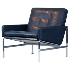Fabricius Kastholm Easy Chair Mod. 6720 Black Leather Kill International, 1960s