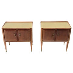 Italian Midcentury Nightstand, 1950s, Set of 2
