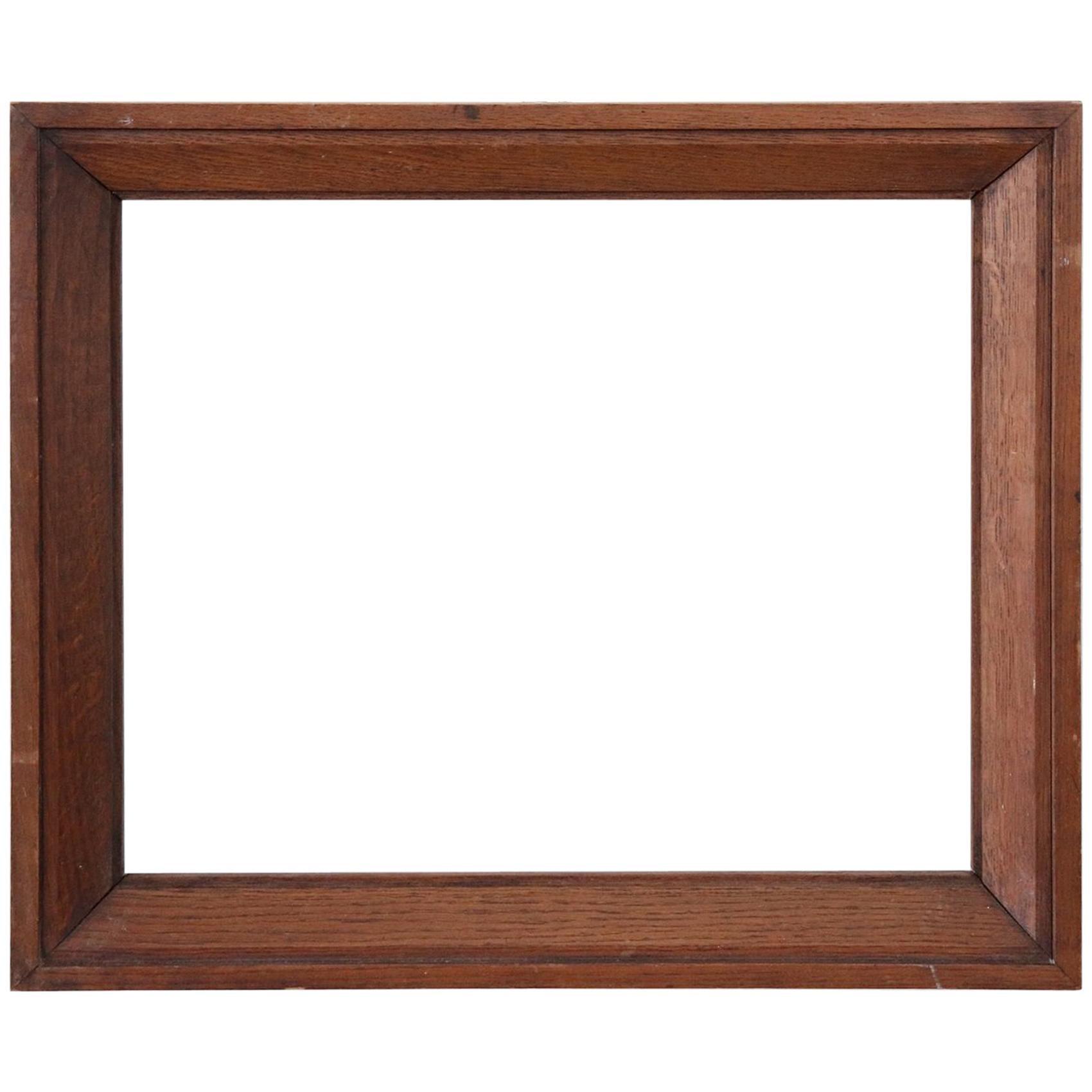 20th Century Italian Oak Wood Frame
