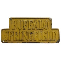 Buffalo Springfield Cast Iron Steam Roller Sign Plaque