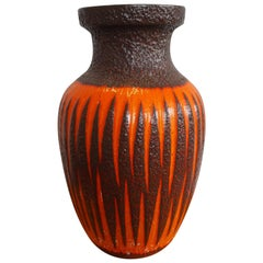 """Scheurich"" Ceramic Vase with ""Fat Lava"" Glaze from the 1960s"
