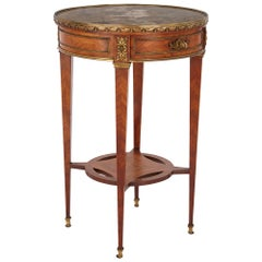 Antique Kingwood, Ormolu and Fluorite Side Table by Maison Millet