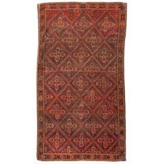 19th Century Turkmen Wool Rug, Ersari, Ethnic Design, circa 1880
