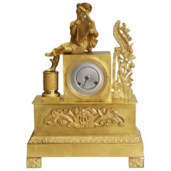 Elegant Empire Gilt Bronze Pendulum Table Clock, France, circa 1810