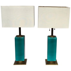 Pair of Mid-Century  Italian Murano Table Lamps