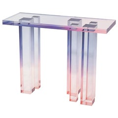 Crystal Series Console Table 03 in Acrylic