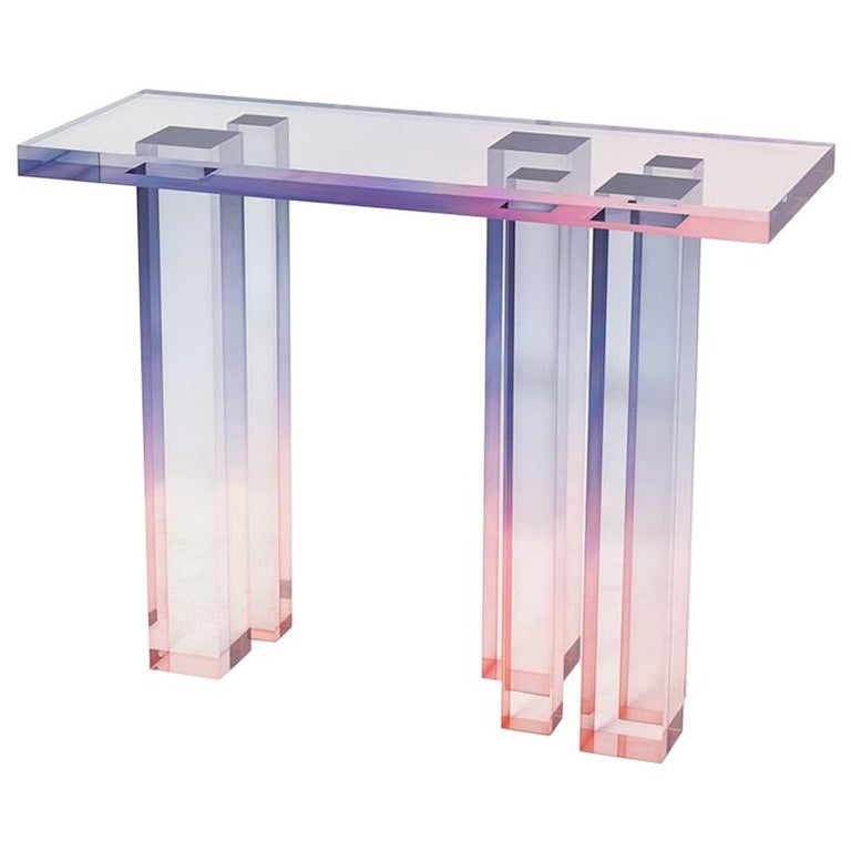Crystal Series Console Table 03 in Acrylic For Sale
