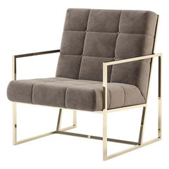 Matrix Fabric Armchair with Taupe Fabric