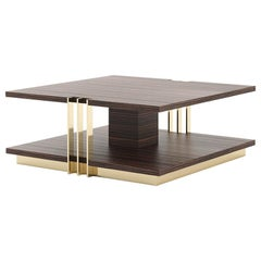 Clark Ebony Coffee Table in Solid Matte Ebony Wood