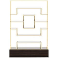 Centre Frame Shelf in Gold Finish