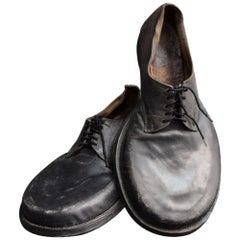 Early 20th Century Handmade Leather Clown Shoes