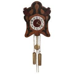 Unusual Art Nouveau Wall Clock