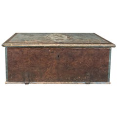 19th Century Rustic Swedish Painted Trunk