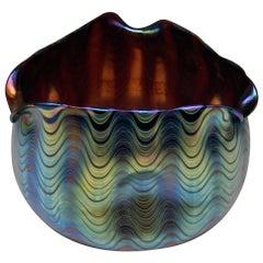 Vase Three Sided Loetz Widow Klostermuehle Art Nouveau 1900 Phaenomen Genre 6893