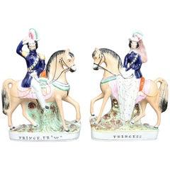 Pair of 19th Century Staffordshire Figures