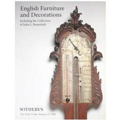 Sotheby's: English Furniture & Decorations, John L. Boonshaft Collection, 1998