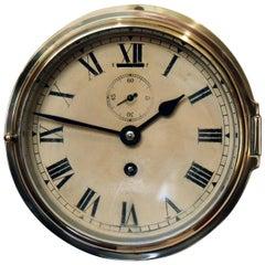Brass Ships Bulkhead Clock