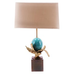 Ostrich Egg Table Lamp by Maison Charles